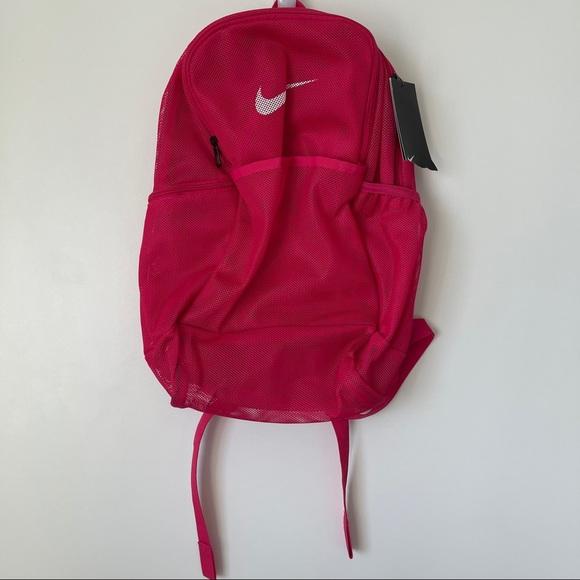 Fuchsia Nike Mesh Backpack